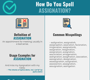 Correct spelling for assignation