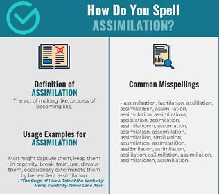 Correct spelling for assimilation