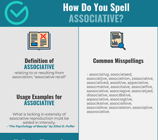 Correct spelling for associative