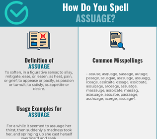 Correct spelling for assuage