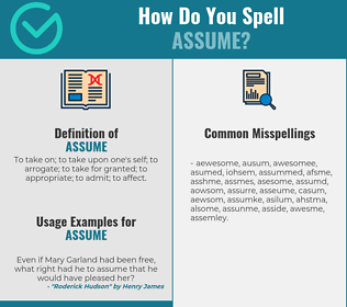 Correct spelling for assume