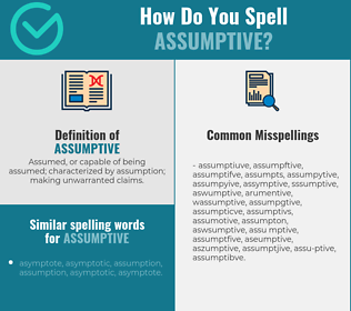 Correct spelling for assumptive