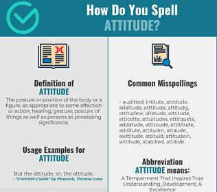 Correct spelling for attitude
