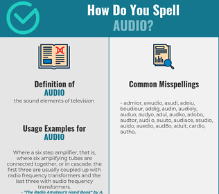 Correct spelling for audio