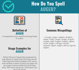 Correct spelling for auger