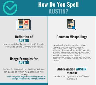 Correct spelling for austin