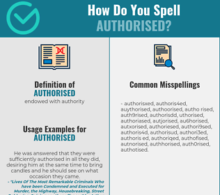 Correct spelling for authorised