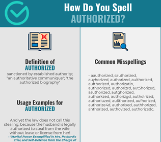 Correct spelling for authorized