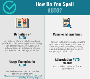 Correct spelling for auto