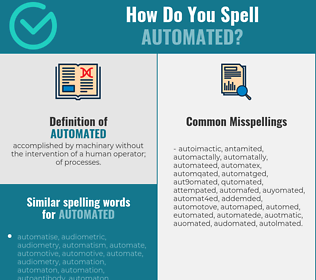 Correct spelling for automated