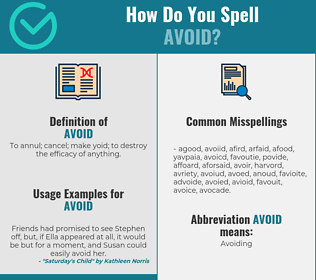 Correct spelling for avoid