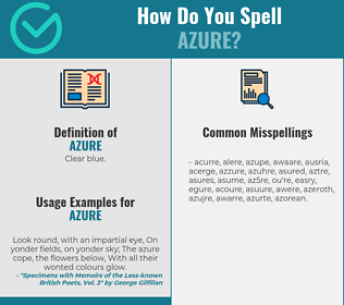 Correct spelling for azure