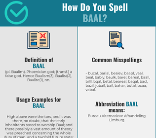 Correct spelling for baal