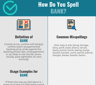 Correct spelling for bank