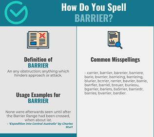 Correct spelling for barrier