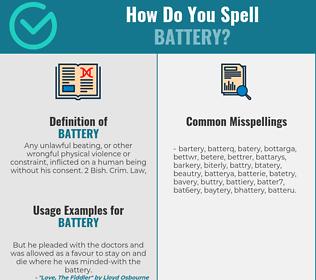 Correct spelling for battery