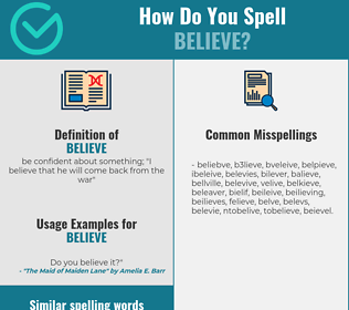 Correct spelling for believe