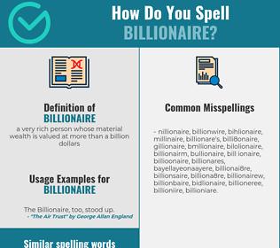 Correct spelling for billionaire