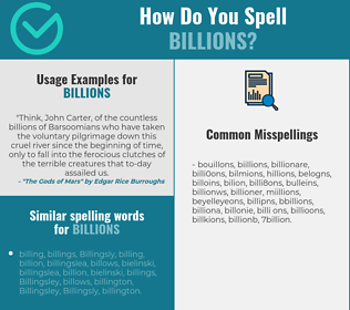 Correct spelling for billions