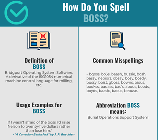 Correct spelling for boss