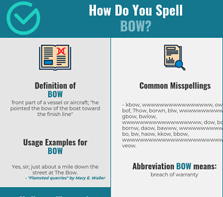 Correct spelling for bow