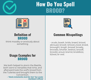 Correct spelling for brood