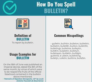 Correct spelling for bulletin