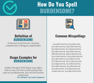 Correct spelling for burdensome