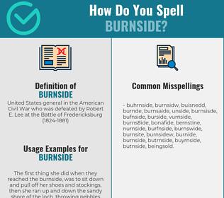 Correct spelling for burnside