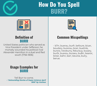Correct spelling for burr