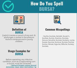Correct spelling for bursa