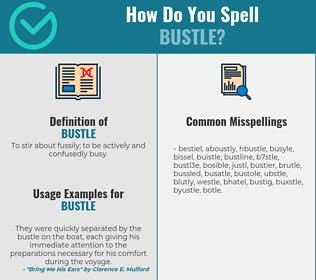Correct spelling for bustle