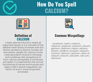 Correct spelling for calcium