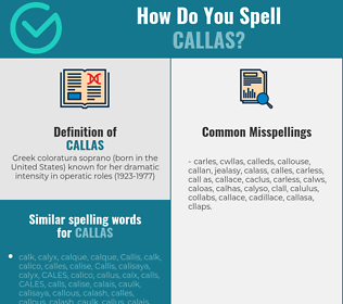 Correct spelling for callas