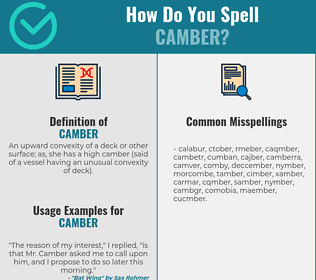 Correct spelling for camber