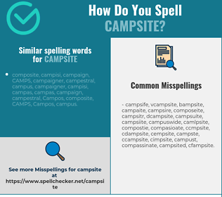 Correct spelling for campsite