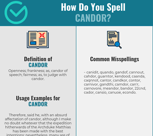 Correct spelling for candor