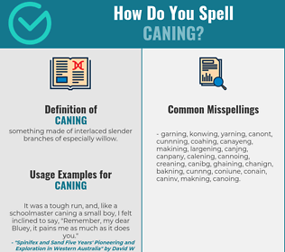 Correct spelling for caning