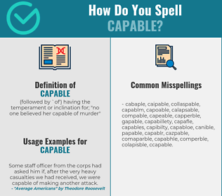 Correct spelling for capable
