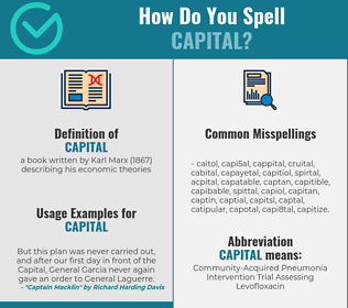 Correct spelling for capital