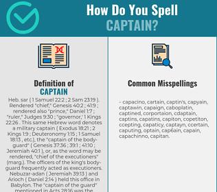 Correct spelling for captain