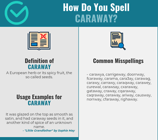 Correct spelling for caraway