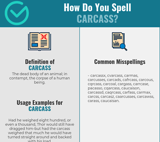 Correct spelling for carcass