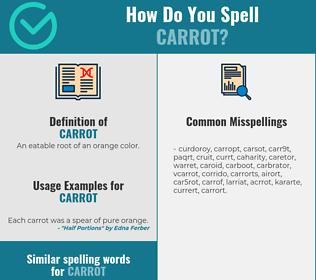Correct spelling for carrot
