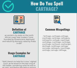 Correct spelling for carthage