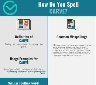 Correct spelling for carve