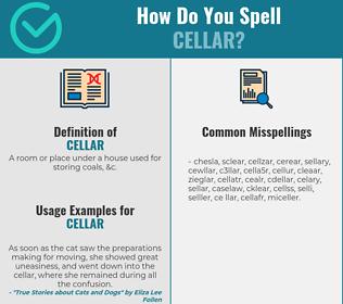 Correct spelling for cellar