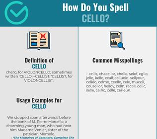 Correct spelling for cello