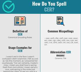 Correct spelling for cer