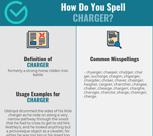 Correct spelling for charger